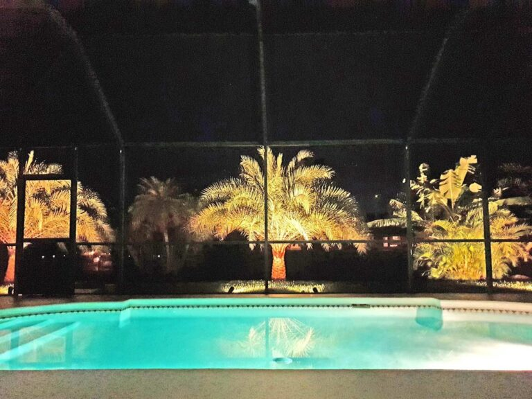 Evenings by the pool